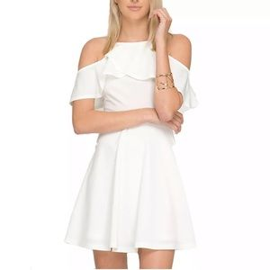 White Open Shoulder Dress